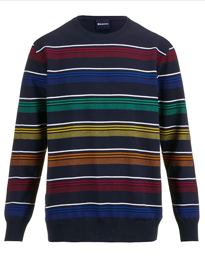 BABISTA Pullover mit feiner Struktur, Marineblau/Multicolor