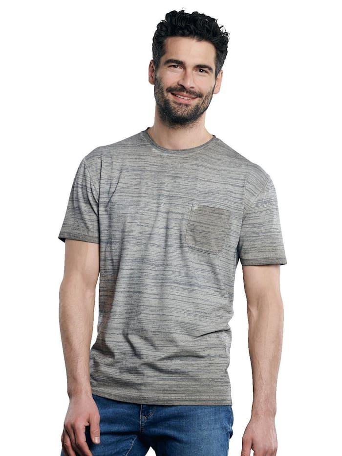 Engbers Flammgarn-Shirt, Zementgrau