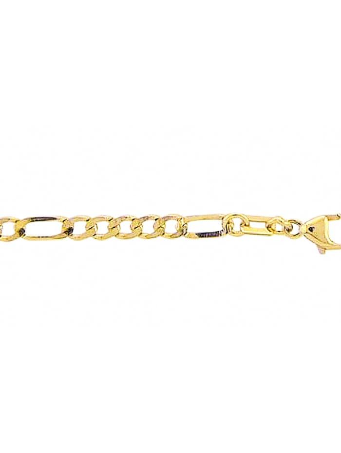1001 Diamonds Damen Goldschmuck 333 Gold Figaro Halskette 50 cm, gold