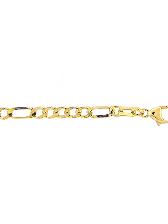 1001 Diamonds Damen Goldschmuck 333 Gold Figaro Halskette 60 cm, gold