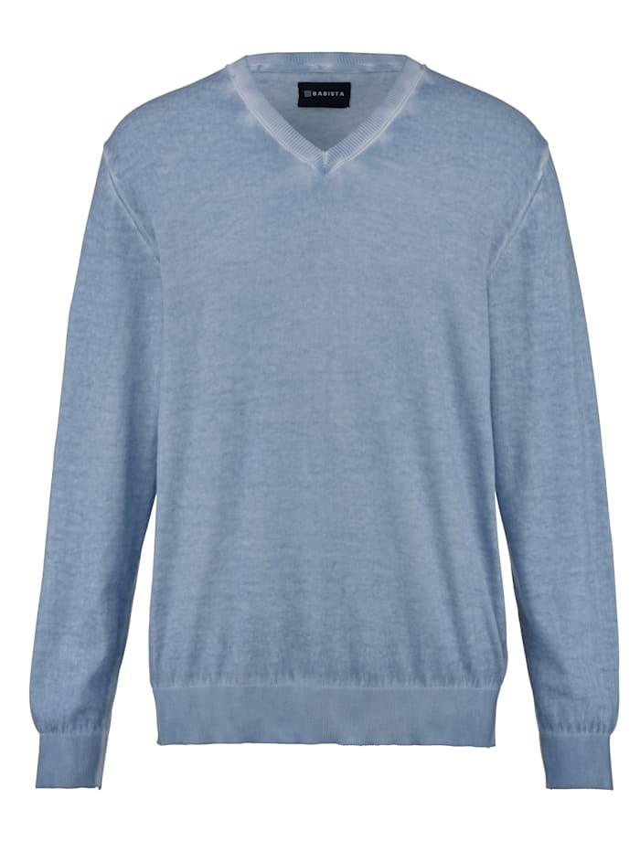 BABISTA Pullover oil dyed, Blau