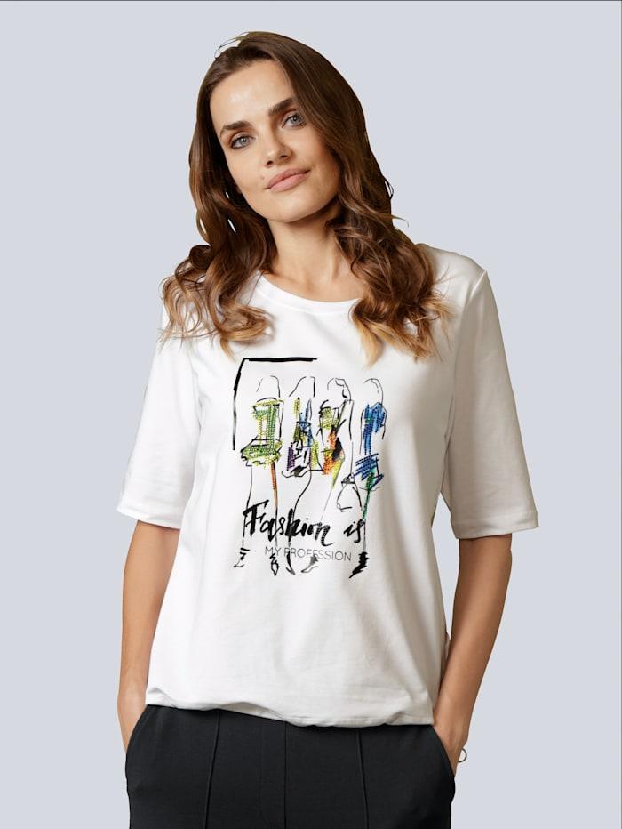 MARGITTES Shirt mit tollem Motiv, Weiß