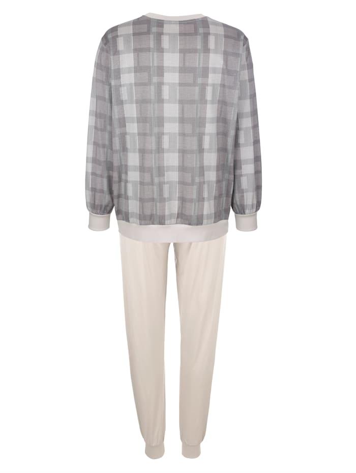 Schlafanzug aus merzerisierter Baumwolle