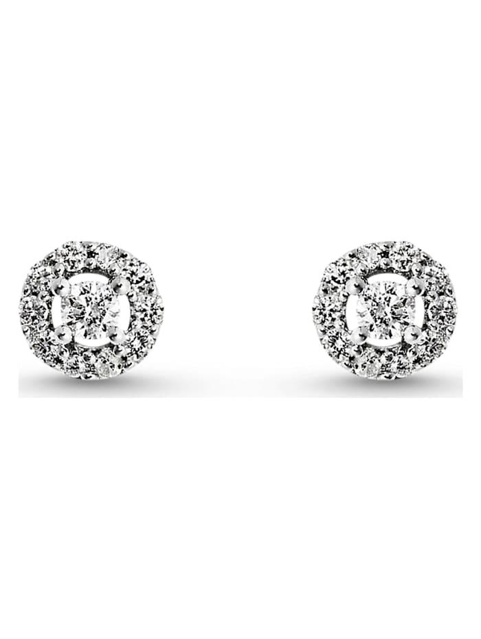 CHRIST Diamonds CHRIST Diamonds Damen-Ohrstecker 375er Weißgold 22 Diamant, weiß