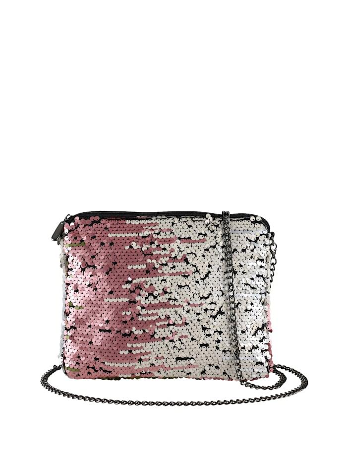 Abendtasche Abbey II mit silber rose Pailetten mit Pailetten zum wenden