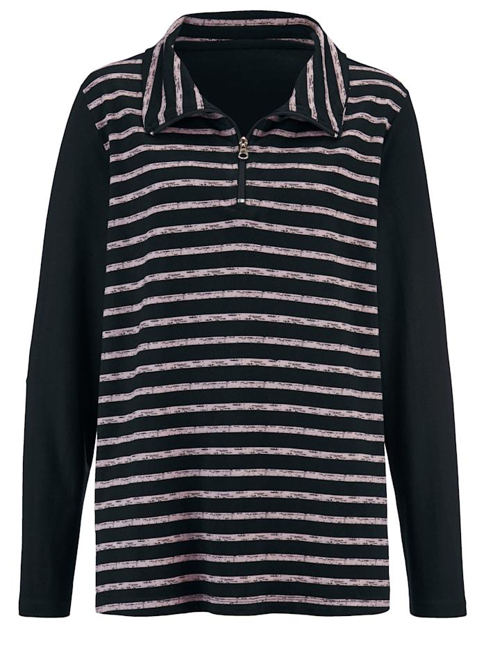 Sweatshirt Troyer collar
