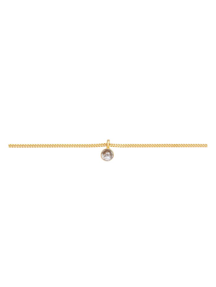 Halskette Choker Turmalinquarz Solitär Anhänger 925 Silber