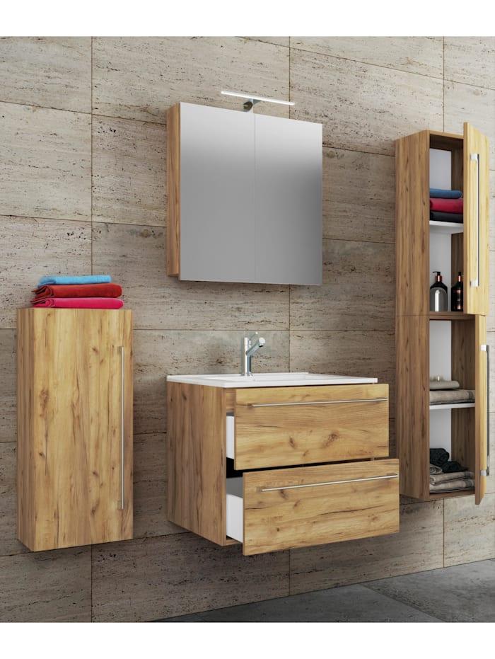 5.-tlg. Waschplatz Waschtisch Badinos Spiegelschrank
