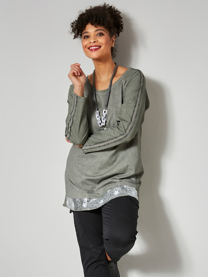 Angel of Style Sweatshirt A-lijn, Kaki