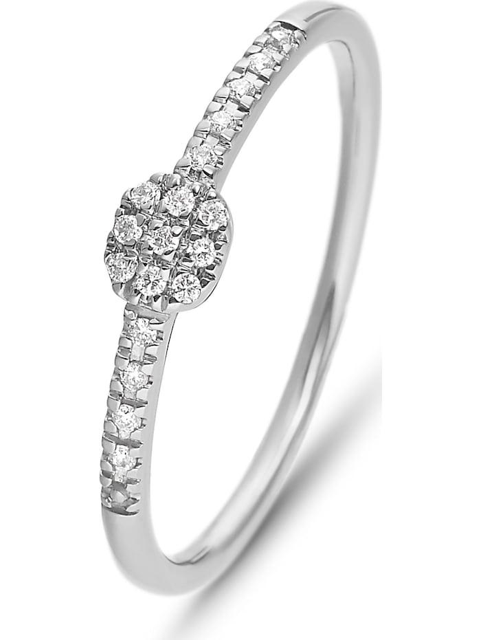 CHRIST Diamonds CHRIST Diamonds Damen-Damenring 375er Weißgold 17 Diamant, weißgold