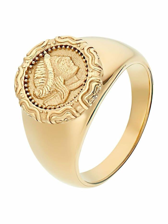 Noelani Ring für Damen, Edelstahl, Münze, Gold