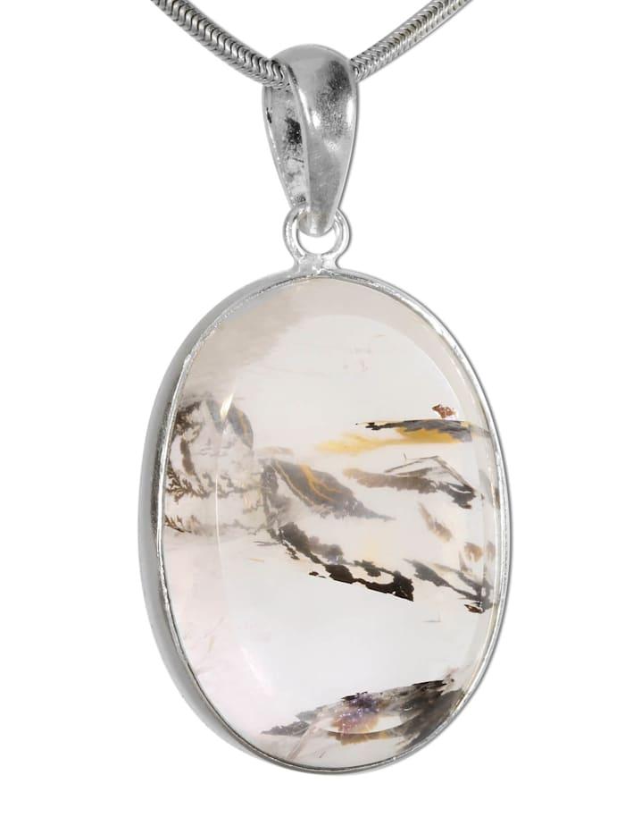 1001 Diamonds Damen Schmuck Edelstein Dendritenquarz Anhänger 925 Silber bunt, bunt