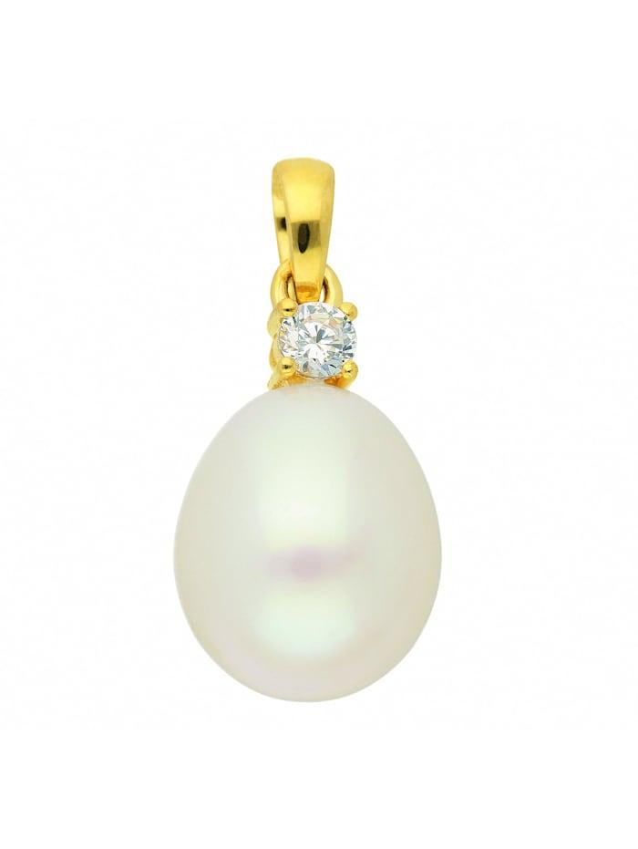 1001 Diamonds Damen Goldschmuck 333 Gold Anhänger mit Zirkonia, gold