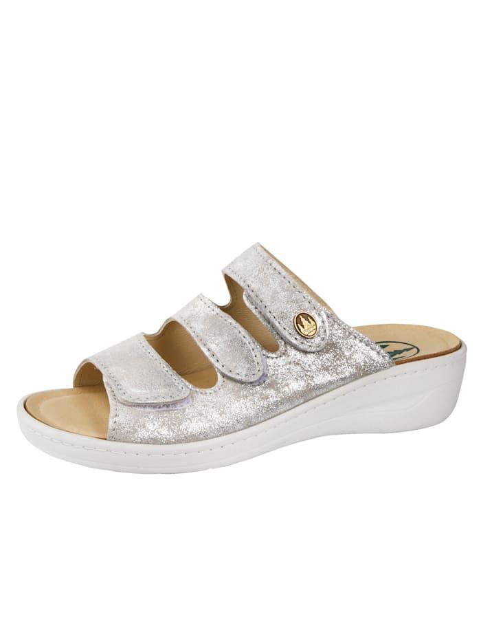 Franken Schuhe Pantolette, Silberfarben