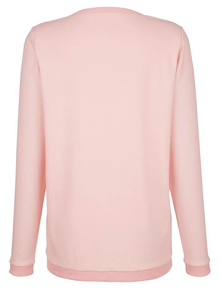 Sweatshirt van een materialenmix