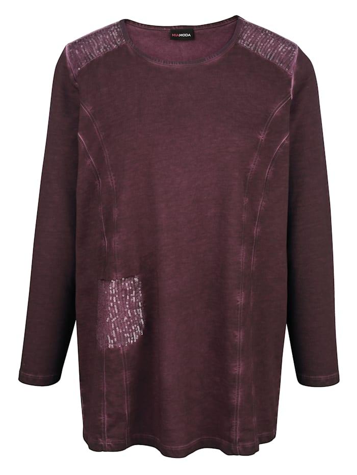 Sweatshirt met pailletten