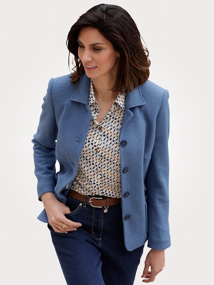 MONA Veste en laine mélangée, Bleu