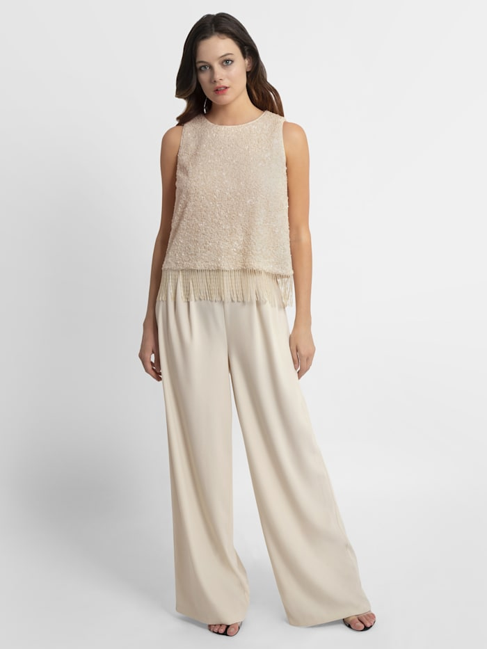 APART Overall mit Pailletten-Top, nude-creme
