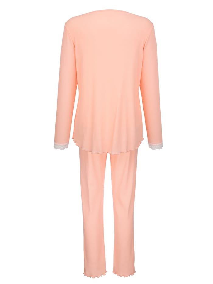 Schlafanzug aus trageangenehmen Rippenjersey