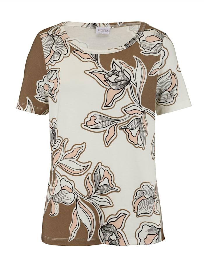 Shirt mit Floral- Druck