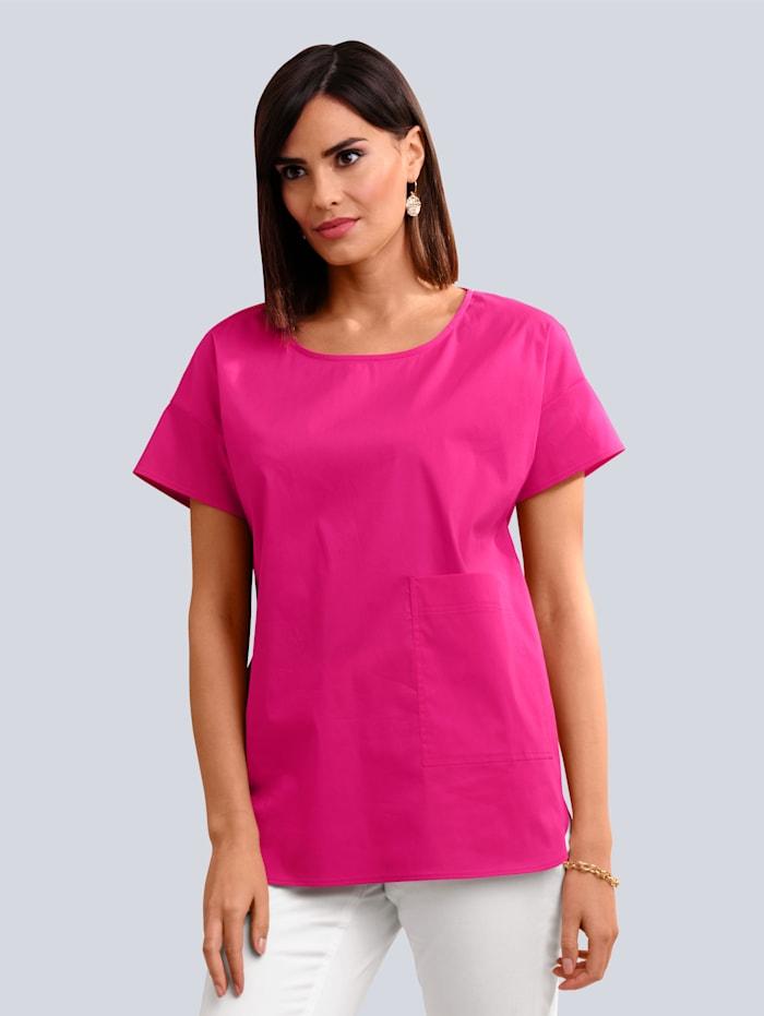 Alba Moda Bluse in modischer Schlupfform, Pink