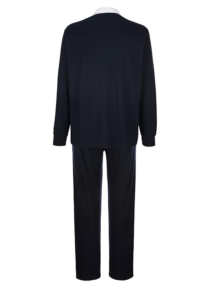 Joggingpak met modieuze overhemdkraag