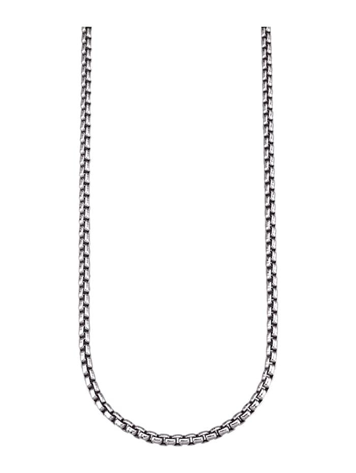 Erbskette in Silber 925, rhodiniert, Silberfarben