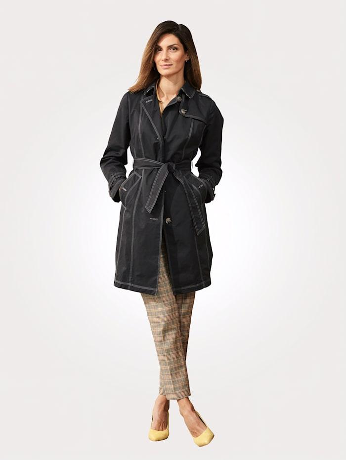 Trench-coat en coton majoritaire