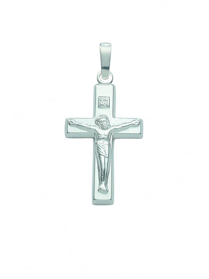 1001 Diamonds Damen & Herren Silberschmuck 925 Silber Kreuz Anhänger Korpus, silber
