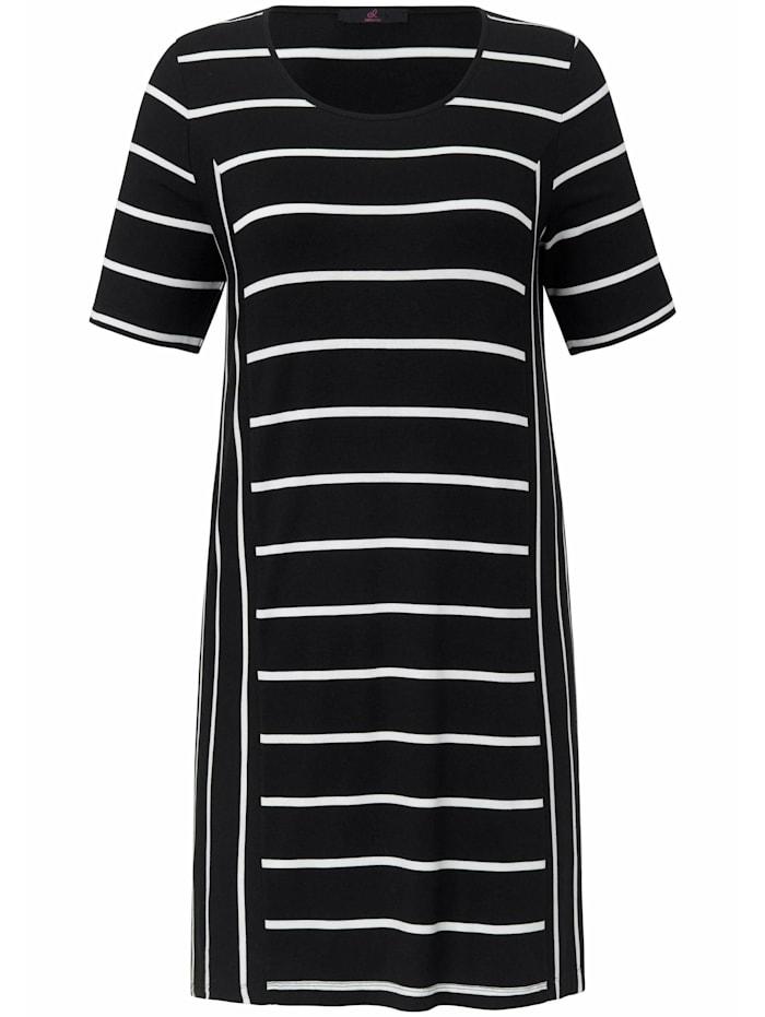Emilia Lay Shirt Longshirt ., schwarz/weiß