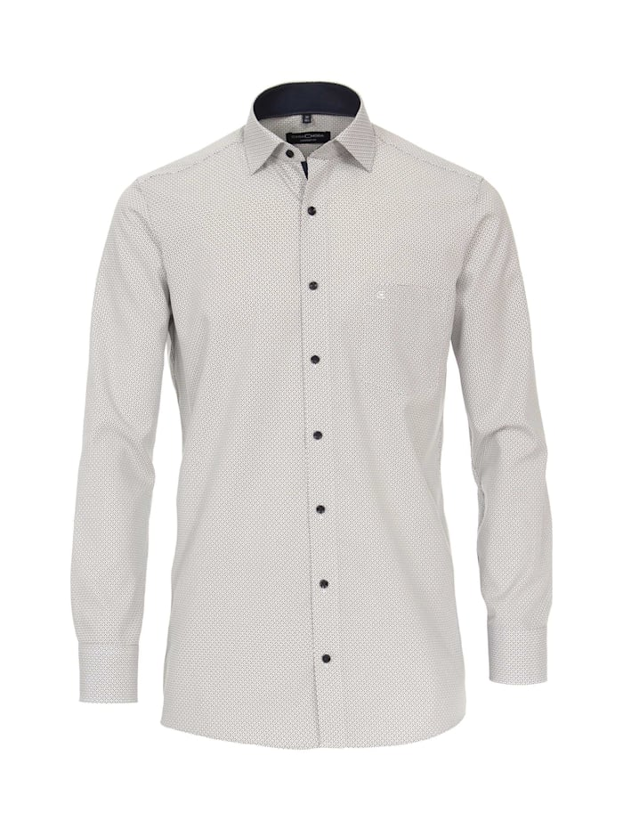 CASAMODA Hemd Print Comfort Fit, Beige