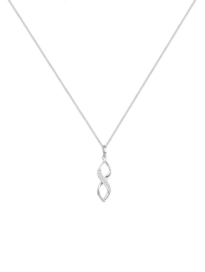 Halskette Infinity Kristalle Edel 925 Silber