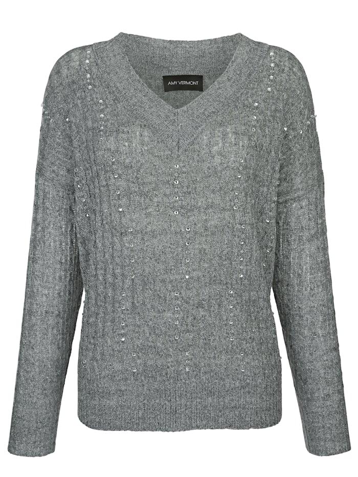 Pullover mit Strasssteindekoration