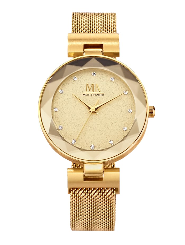Meister Anker Women's watch, Yellow gold coloured