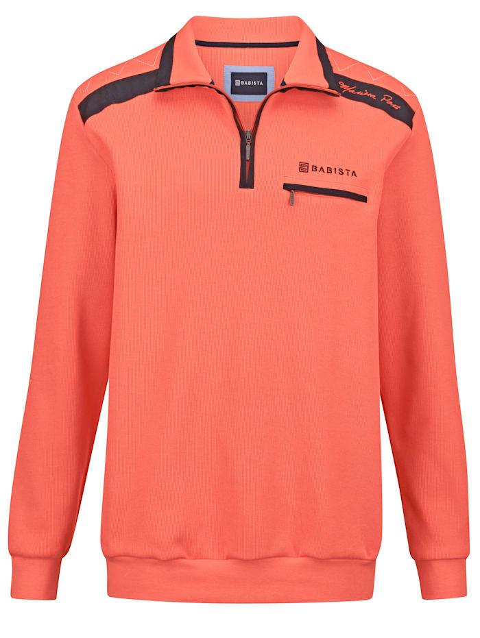 BABISTA Sweatshirt mit vielen aufwändigen Details, Koralle