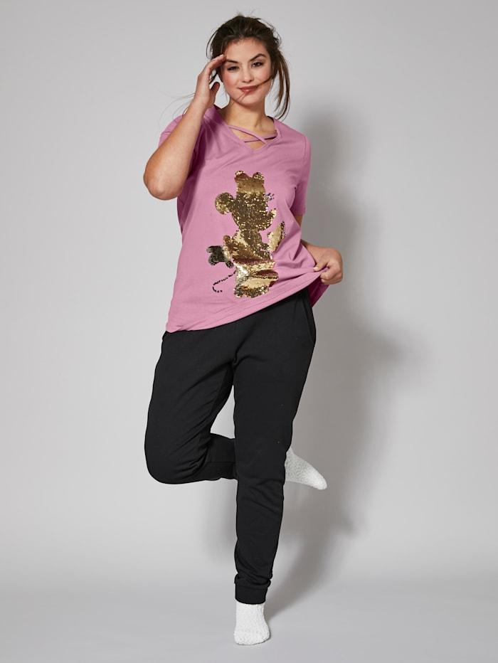 Angel of Style Shirt mit Pailletten, Rosé