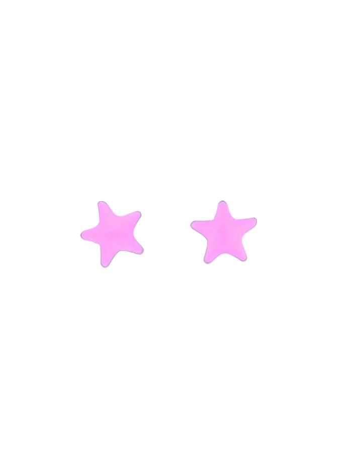 1001 Diamonds Damen Silberschmuck 925 Silber Ohrringe / Ohrstecker Stern Ø 7 mm, silber