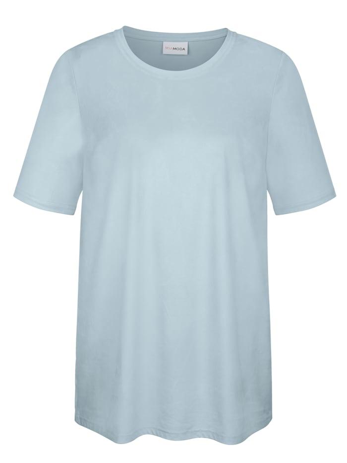 Shirt in Veloursoptik