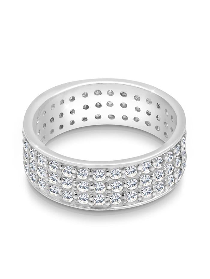 Ring Ring Kristalle 925 Sterling Silber