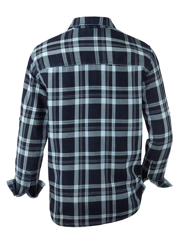 Chemise en jean à effet délavé et usé