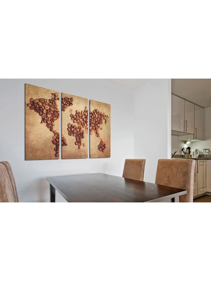 Wandbild Kaffee aus der ganzen Welt - Triptychon
