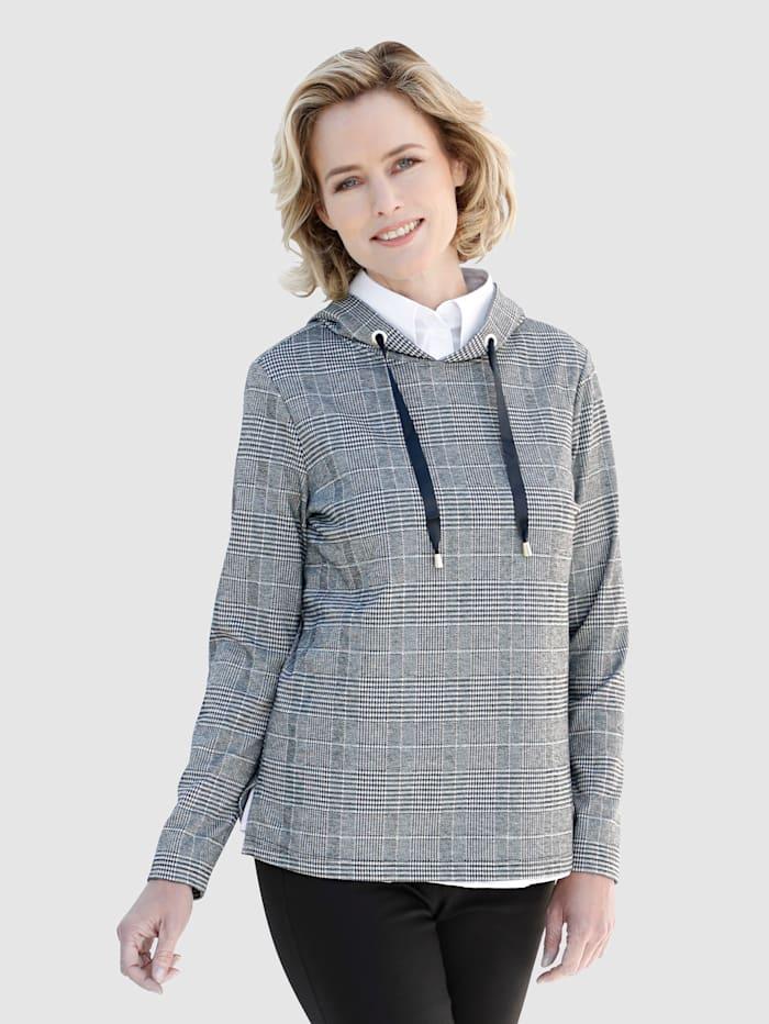 Sweatshirt med rutigt mönster