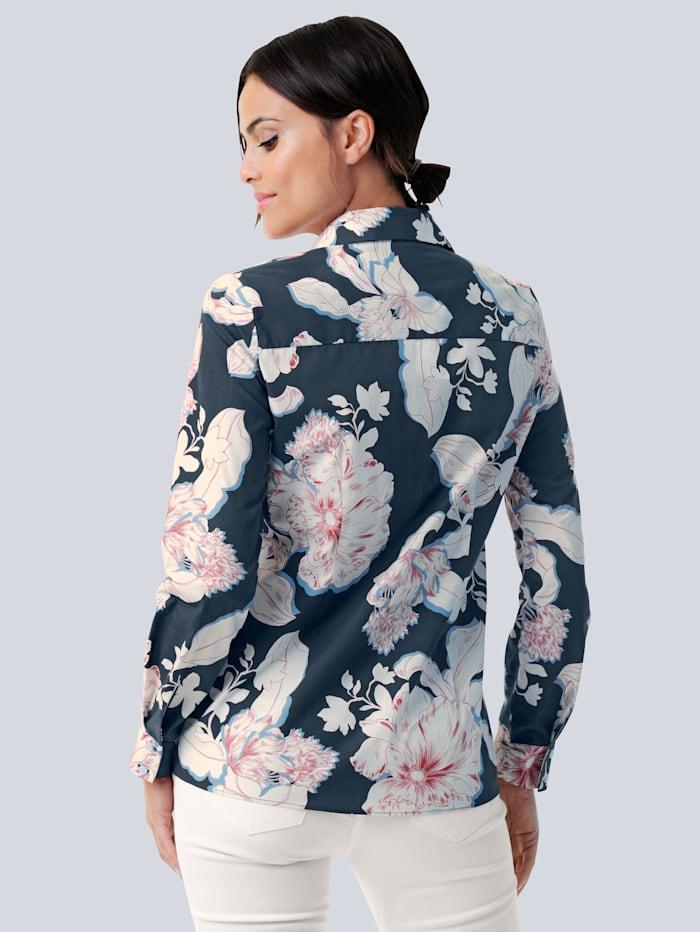 Hemdbluse mit floralem Druck