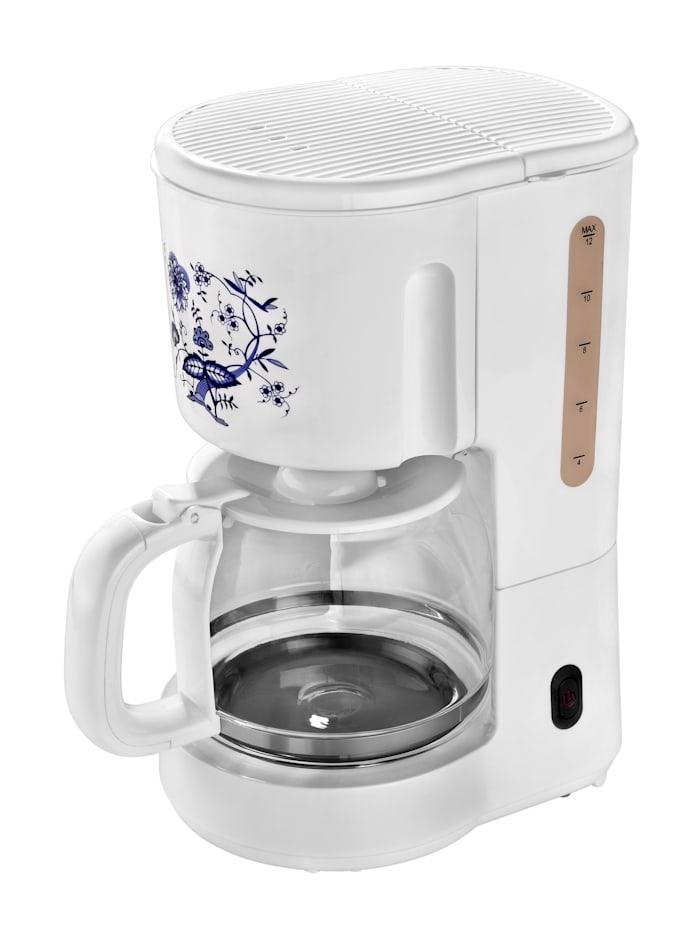 efbe-Schott Kaffeeautomat SC KA 1080.1 Z, weiß mit blauem Zwiebelmuster-Dekor, weiß mit blauem Zwiebelmuster-Dekor
