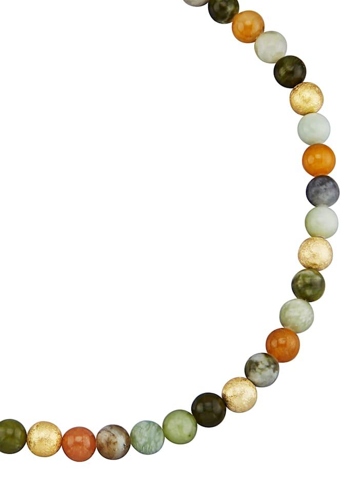 Diemer Farbstein Ketting met jade, Multicolor