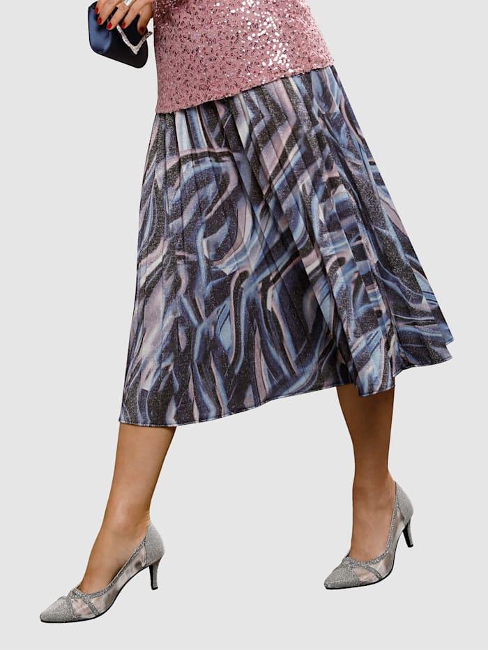 MIAMODA Plisserad kjol med glittereffekt, Flerfärgad