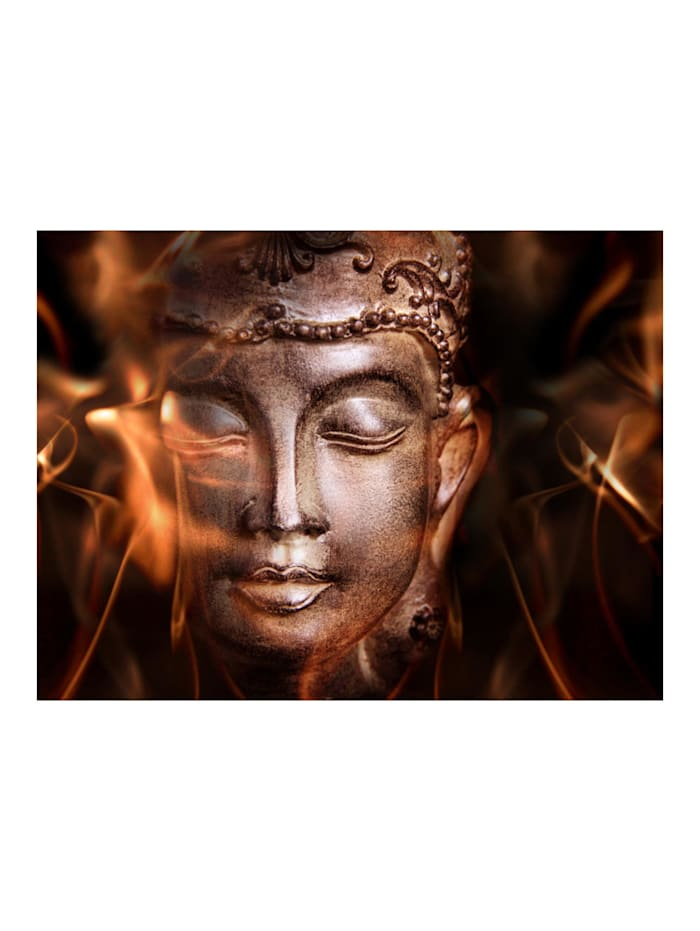 Fototapete Buddha. Fire of meditation.