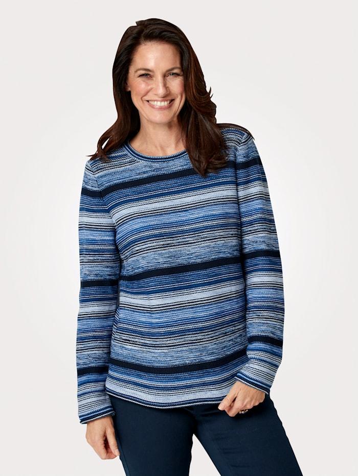 MONA Pullover mit harmonischem Farbverlauf, Marineblau/Blau
