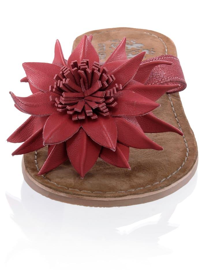 Infradito mit dekorativer Blume