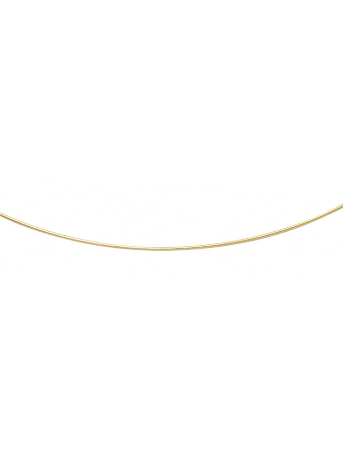 1001 Diamonds Damen Goldschmuck 333 Gold Tonda Halskette 40 cm, gold